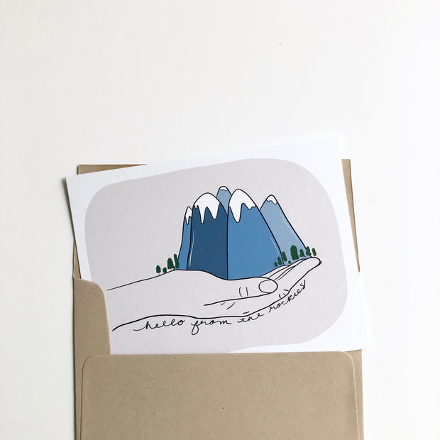 Mountains in Hand Hello from the Rockies Card 1