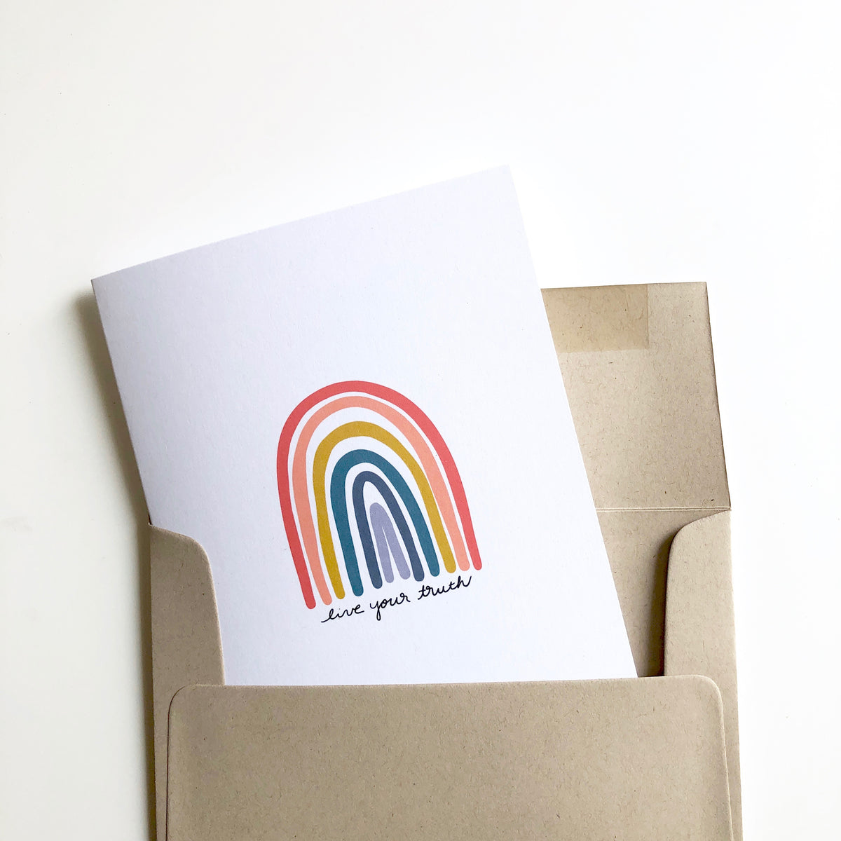 Live Your Truth Rainbow Card and Print