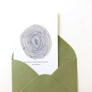 Tree Rings with Emerson Quote Card