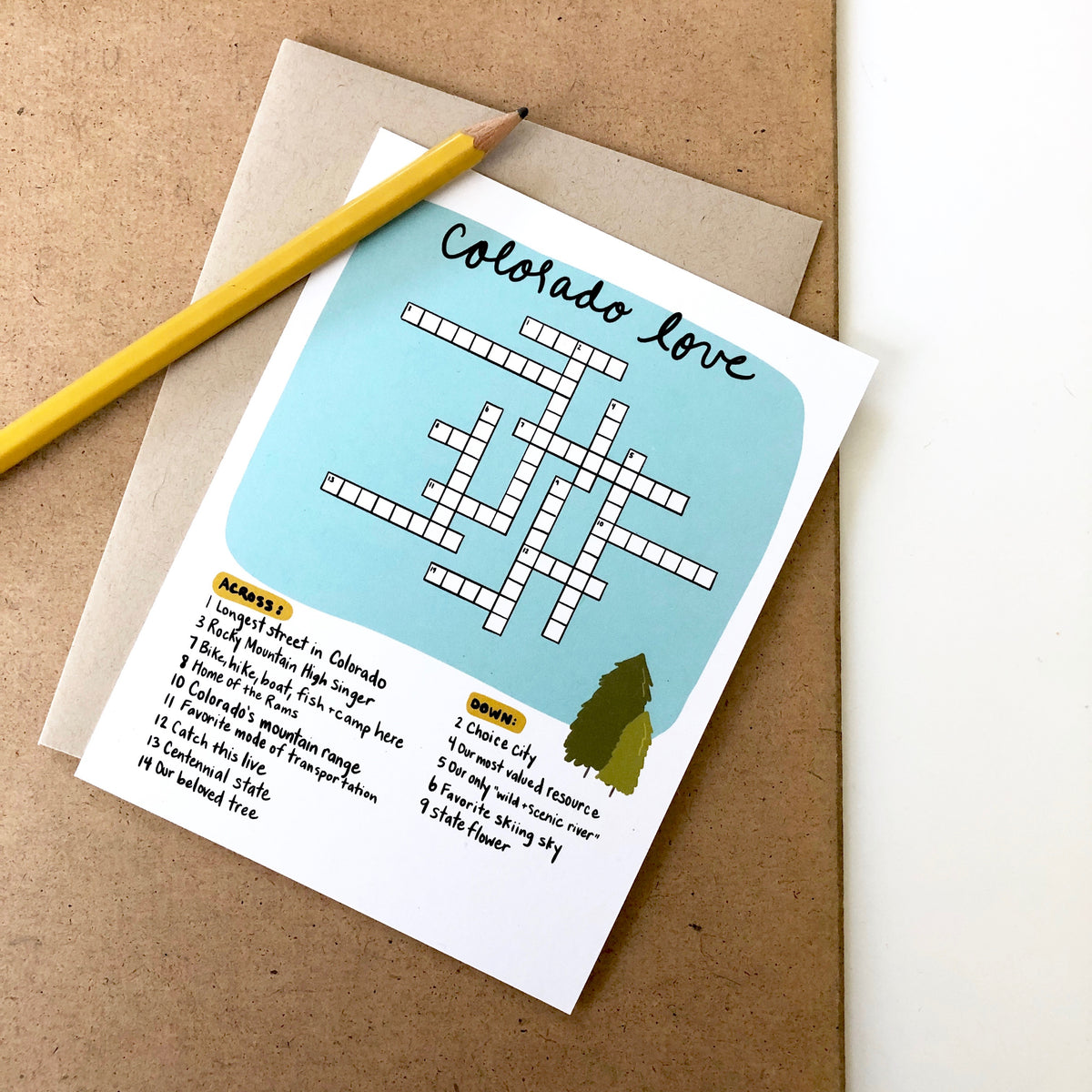 Colorado Crossword Puzzle Card