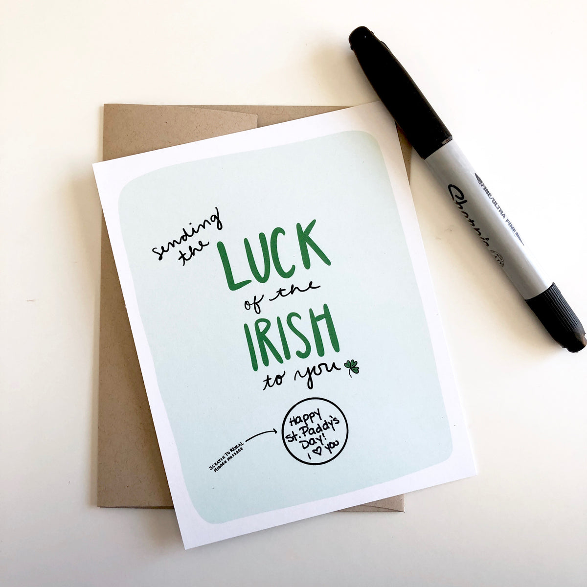 Luck of the Irish Scratch Off Card