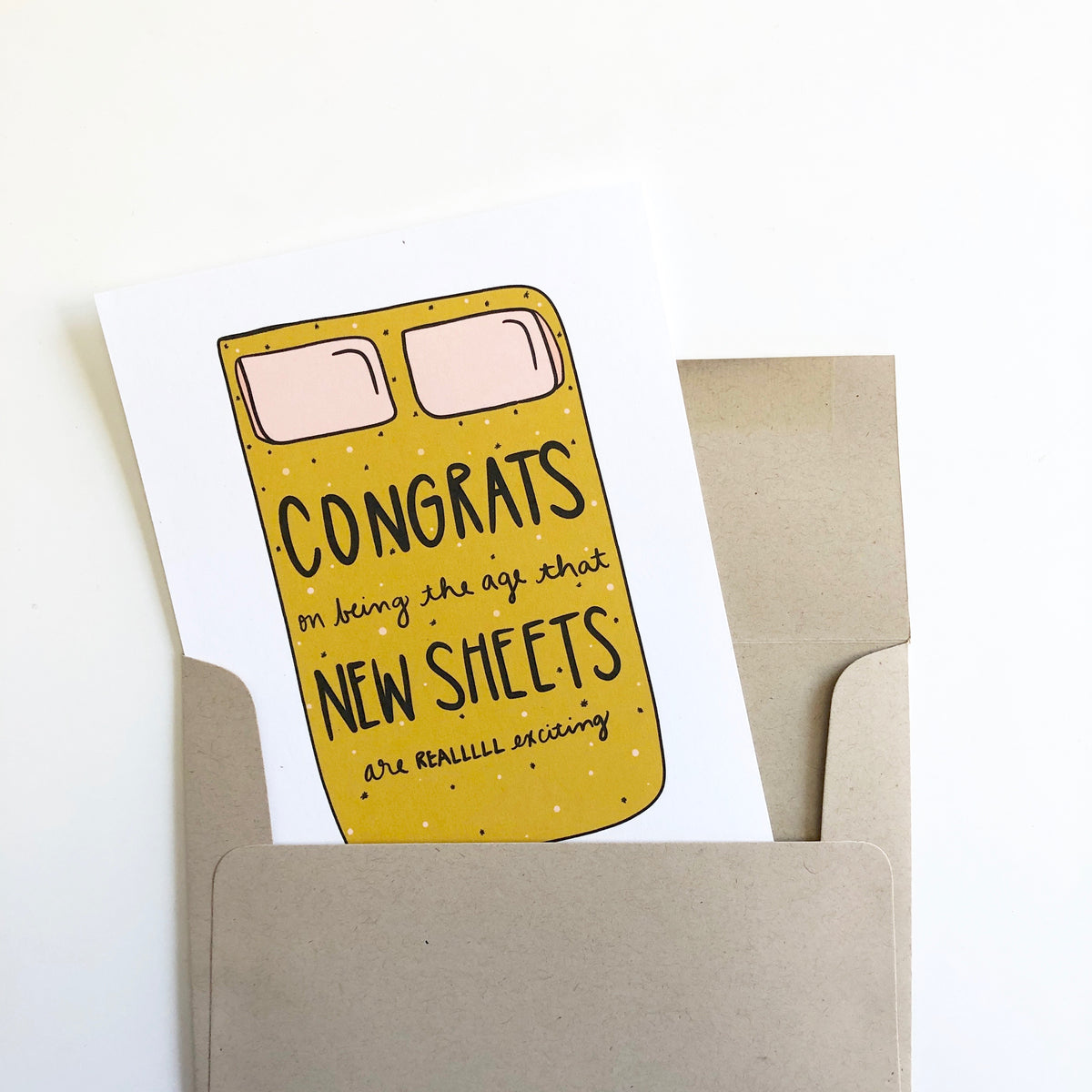 New Sheets Birthday Card