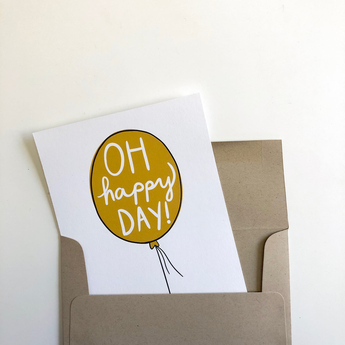 Oh Happy Day Balloon Card