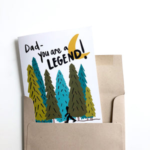 Dad You're a Legend Big Foot Father's Day Card