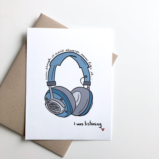 I was Listening Dad Father's Day Card Mother's Day Card 1