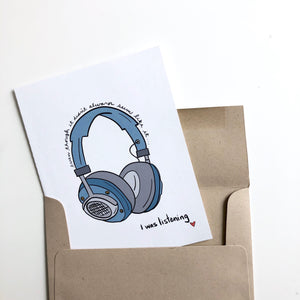 I was Listening Dad Father's Day Card Mother's Day Card