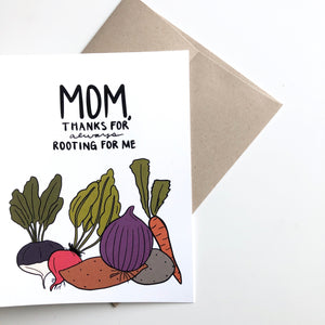 Thanks for Always Rooting for Me Mom Mother's Day Card