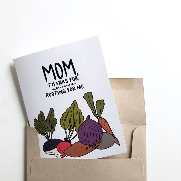 Thanks for Always Rooting for Me Mom Mother's Day Card 1