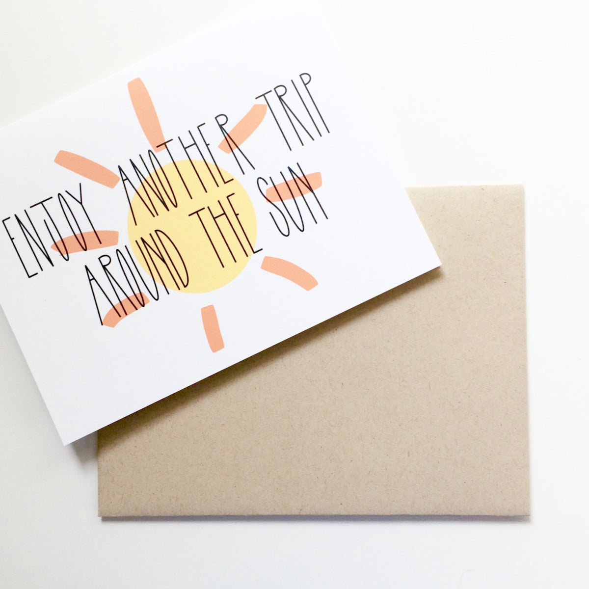Trip around the sun birthday greeting card