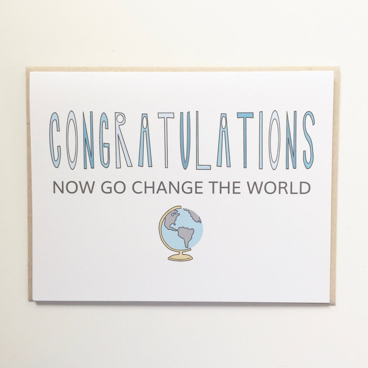 Go Change the World Graduation Card
