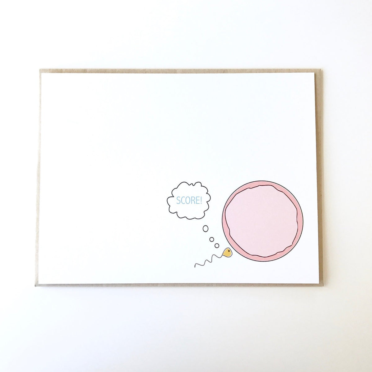 Sperm and Egg Baby Card