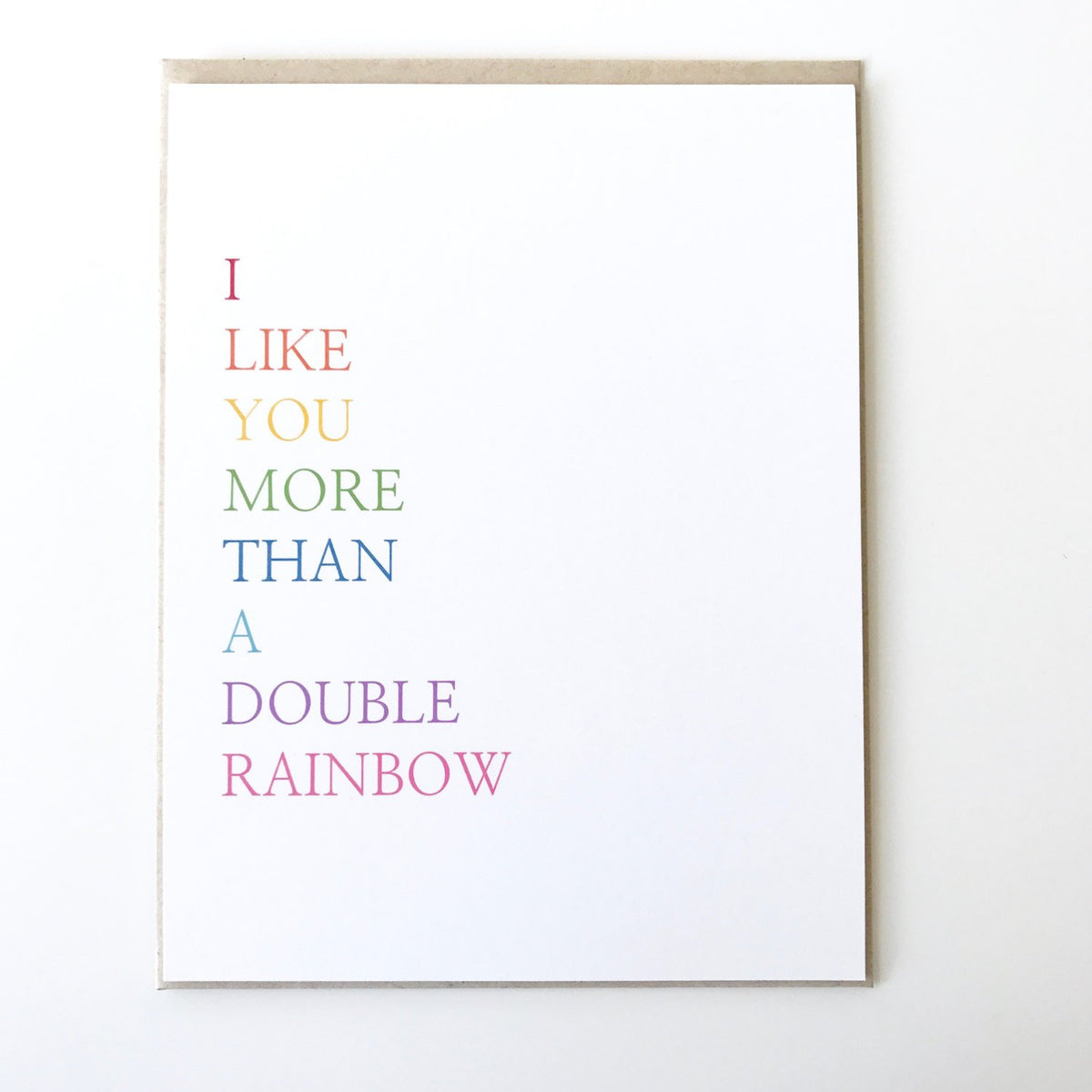 Double Rainbow Card