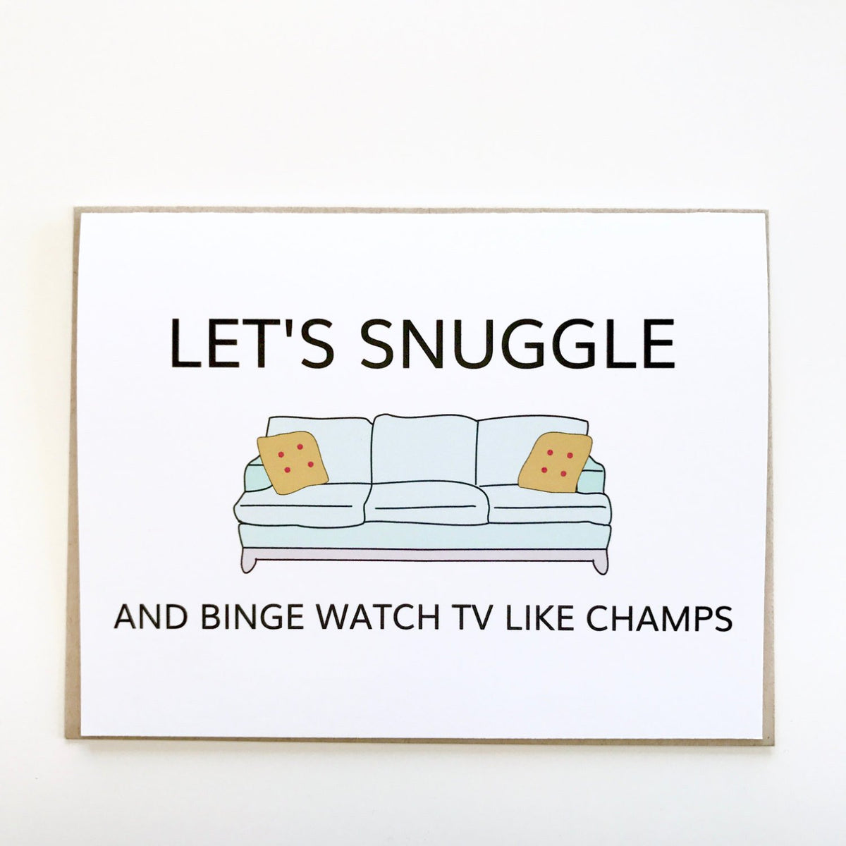 Let's Snuggle and Binge Watch TV Card