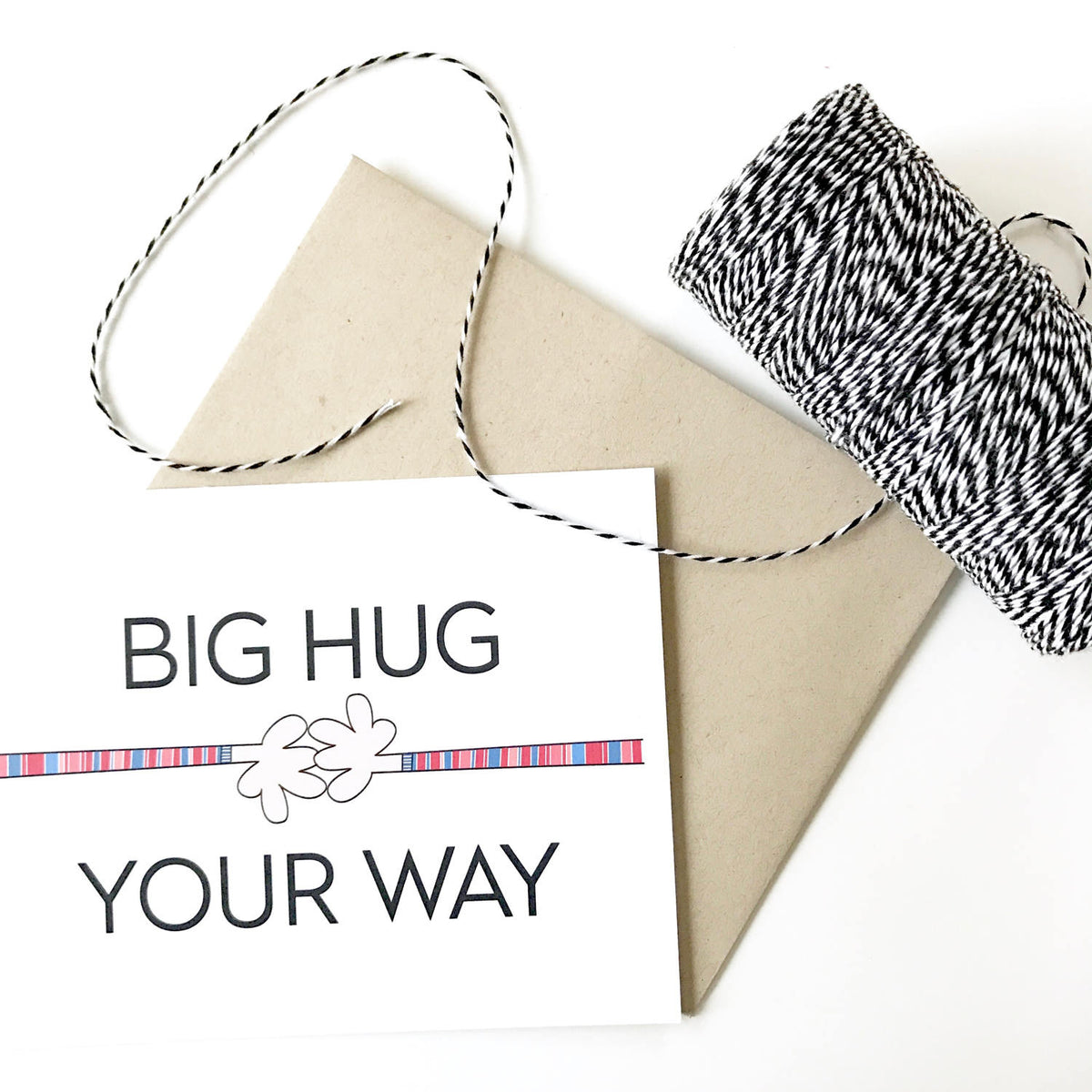 Big Hug Your Way Card
