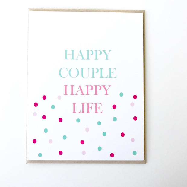 Happy Couple, Happy Life Card