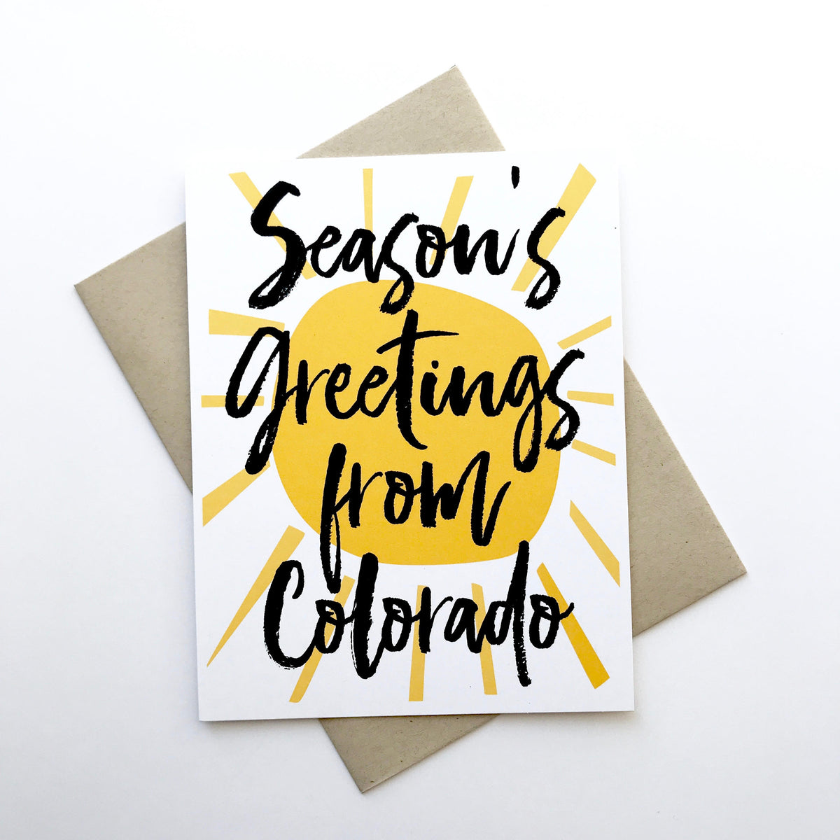 Season's Greetings Colorado Holiday Card