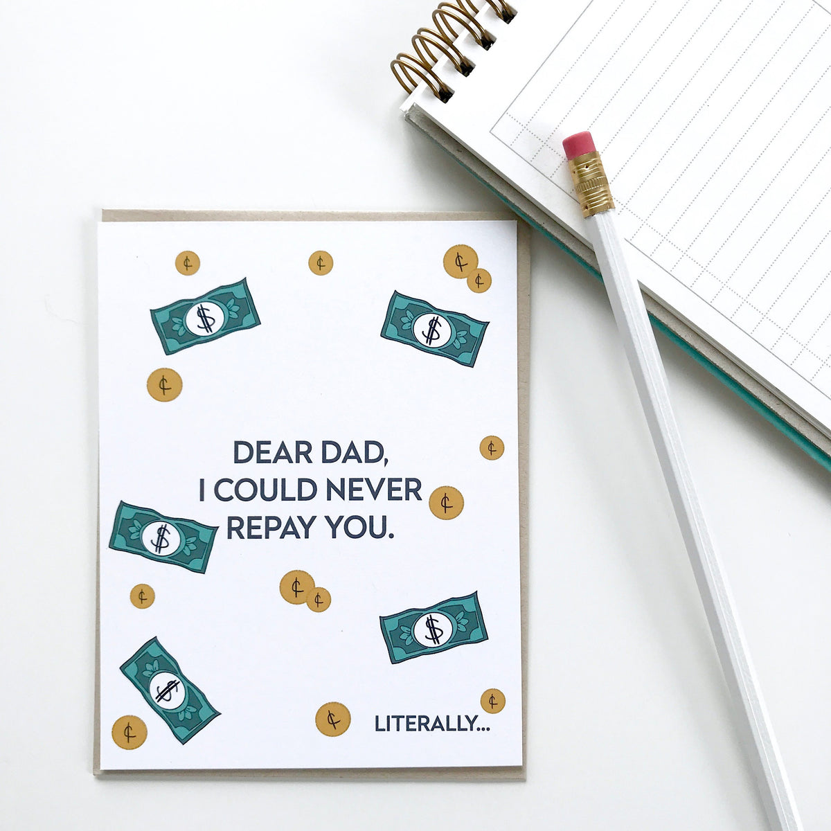 Repay you Father's Day Card