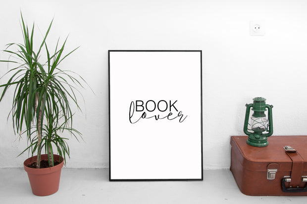 Book Lover wall print