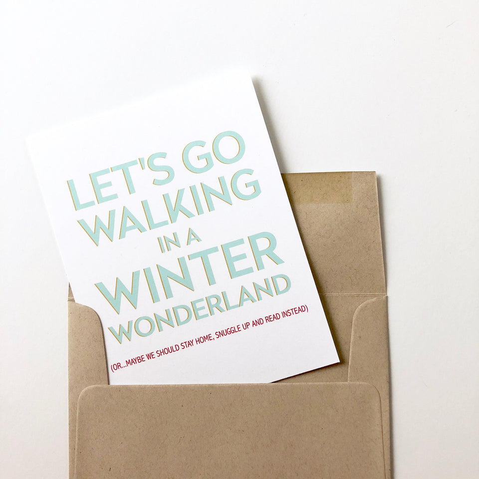 Winter Wonderland Book Lover Card