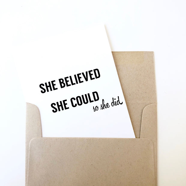 She Believed She Could So She Did Card 1