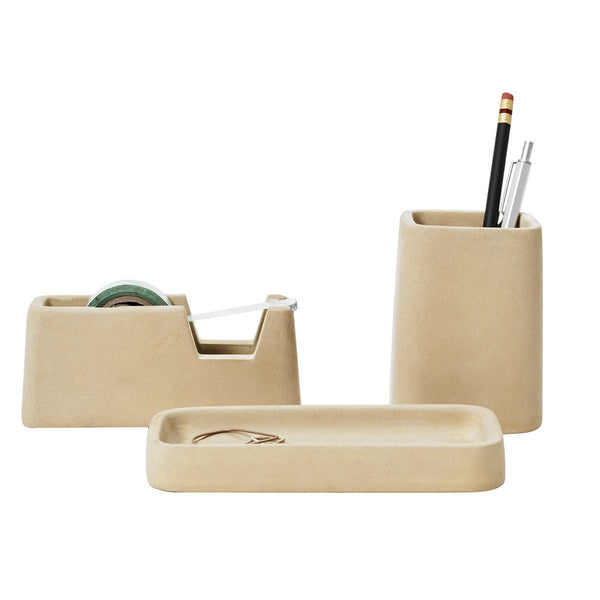 Concrete Desk Set Sand