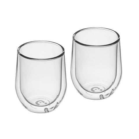 Barware Stemless Glass (Pk Of 2) - Clear Double Walled Cup