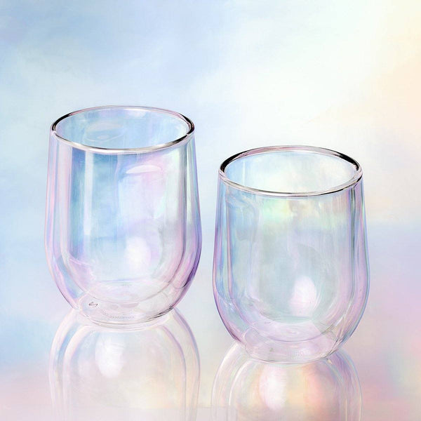 Barware Stemless Glass (Pk Of 2) - Prism Double Walled Cup