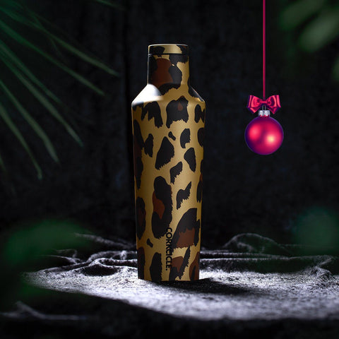 Luxe Canteen 475ml - Leopard Insulated Stainless Steel Bottle