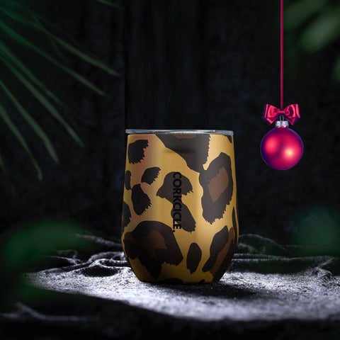 Luxe Stemless 355ml - Leopard Insulated Stainless Steel Cup