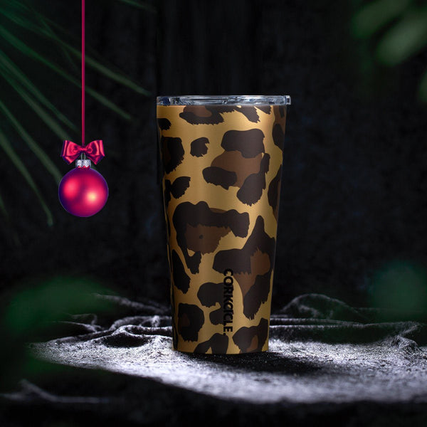 Luxe Tumbler 475ml - Leopard Insulated Stainless Steel Cup