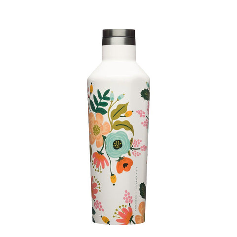 Rifle Paper Canteen 475ml - Cream Lively Floral Insulated Stainless Steel Bottle