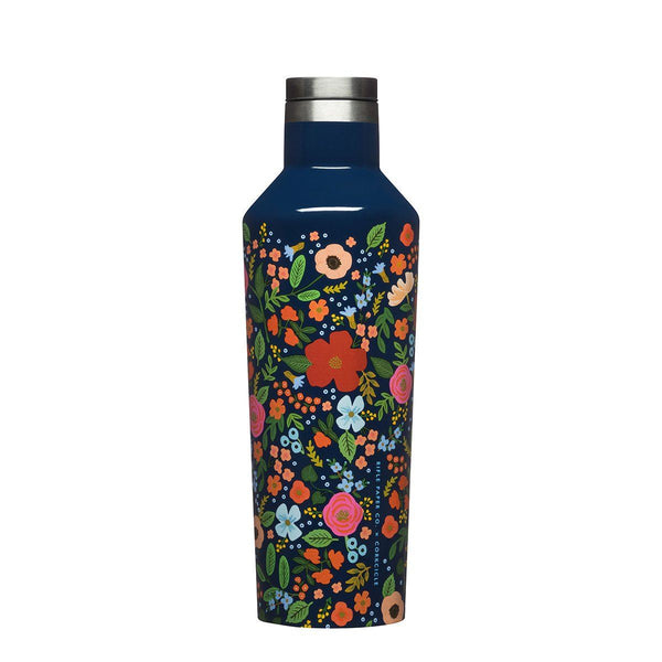 Rifle Paper Canteen 475ml - Wild Rose Insulated Stainless Steel Bottle