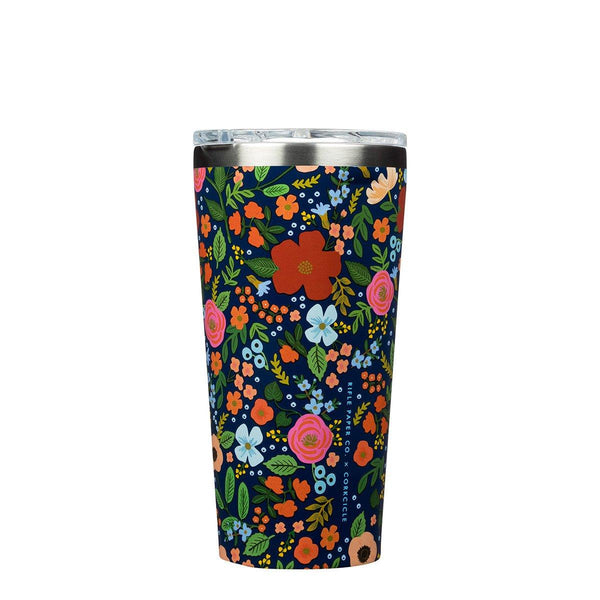 Rifle Paper Tumbler 475ml - Wild Rose Insulated Stainless Steel Cup