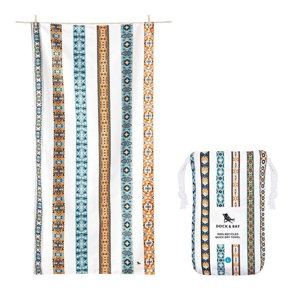 Beach Towel Bohemian Collection L 100% Recycled