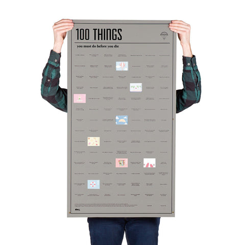 100 Things You Must Do Before You Die Poster