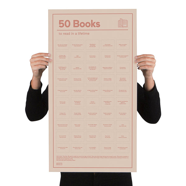 50 Books To Read In A Lifetime Poster