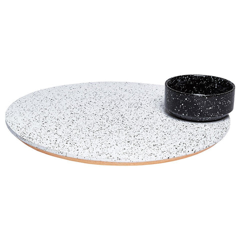 Eclipse Rotating Platter With Bowl