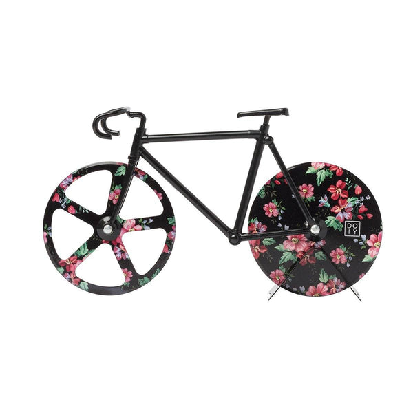 The Fixie Floral Pizza Cutter