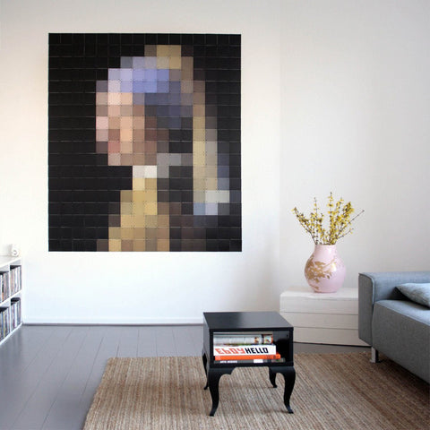 Girl With A Pearl Earring Pixel Wall Art