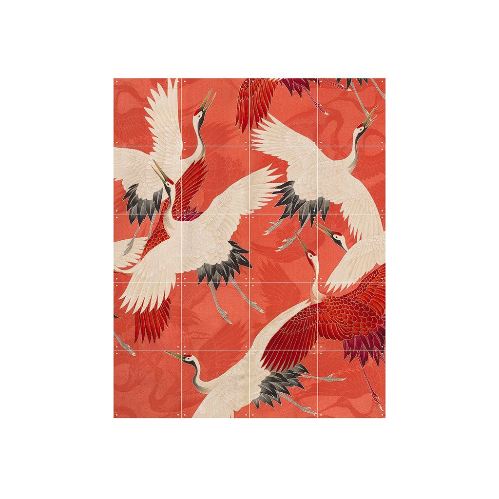 Kimono With Cranes (Double Sided) Wall Art