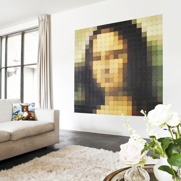 Mona Lisa Pixel Wall Art