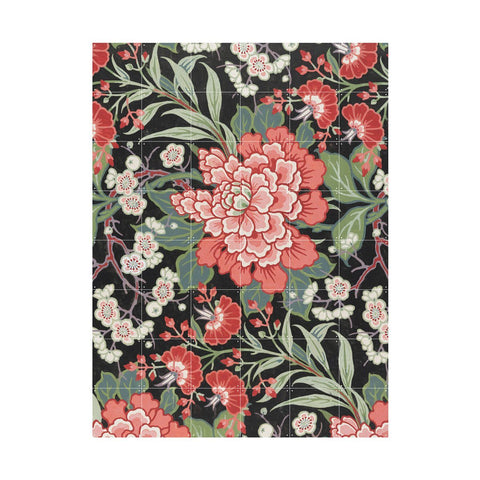 Textile Design With Flowers Wall Art