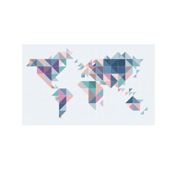 The World Tangram Wall Art