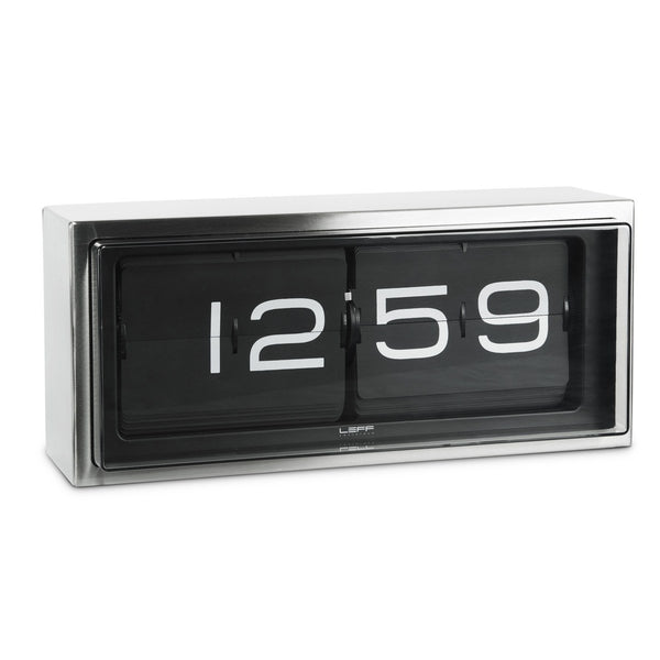 Brick Stainless Steel 24hr Flip Clock