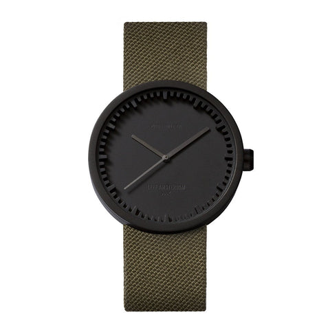 Tube Watch D38 With Green Cordura Strap