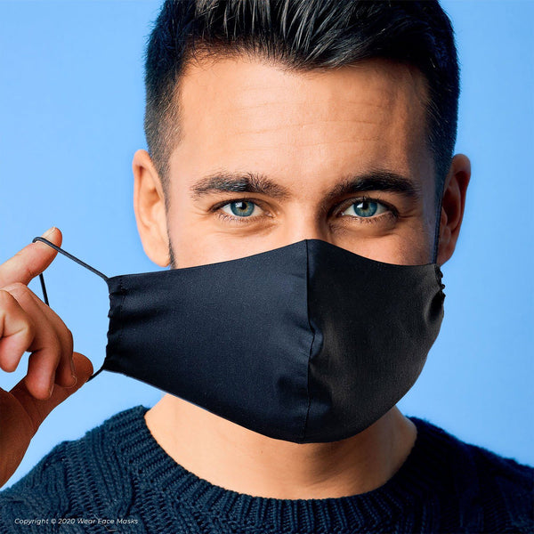 Italian Black Collection Reusable Cotton Face Mask