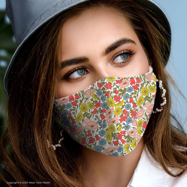 Poppy and Daisy 19A Collection Reusable Cotton Face Mask