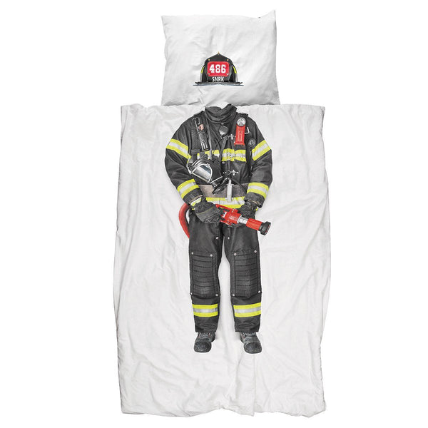 Snurk Quilt Cover Set Firefighter