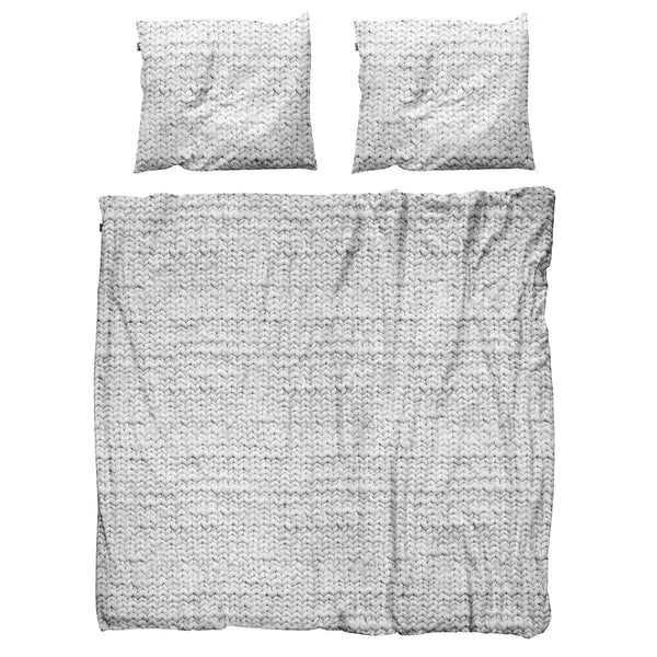 Snurk Quilt Cover Set Knit Grey