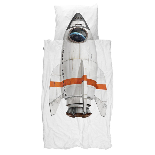 Snurk Quilt Cover Set Rocket